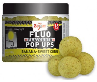Бойлы насадочные Carp Zoom Fluo Pop Ups Yellow, Banana-Sweet Corn