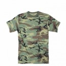 Футболка Rothco Woodland Camo Extra Long Length T-Shirt